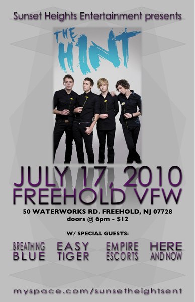 The Hint @ Freehold, NJ - July 17, 2010
