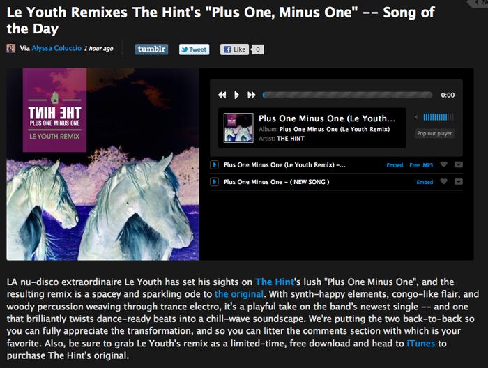 Purevolume Feature - Remix (May 2012)