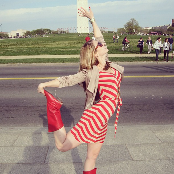 Tessa at the Washington Monument