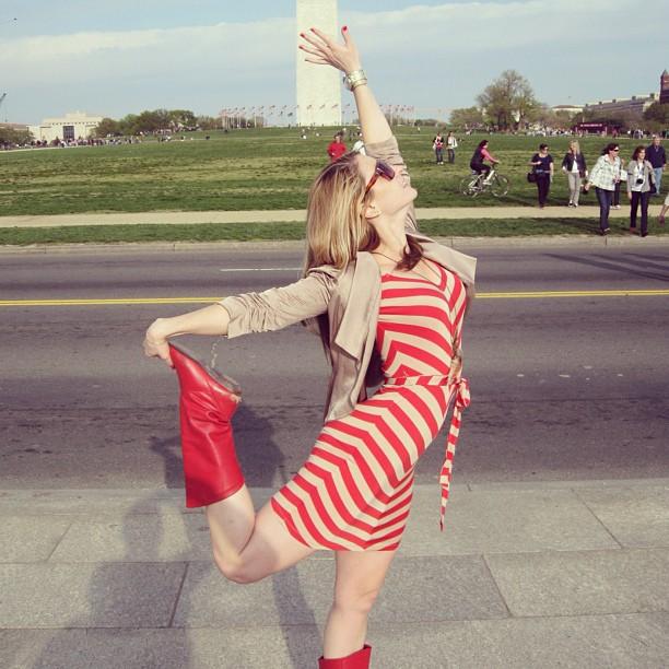 Tessa at the Washington Monument